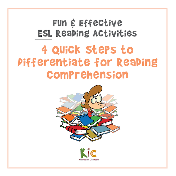 4 Quick Steps to Differentiate for ESL Reading Comprehension