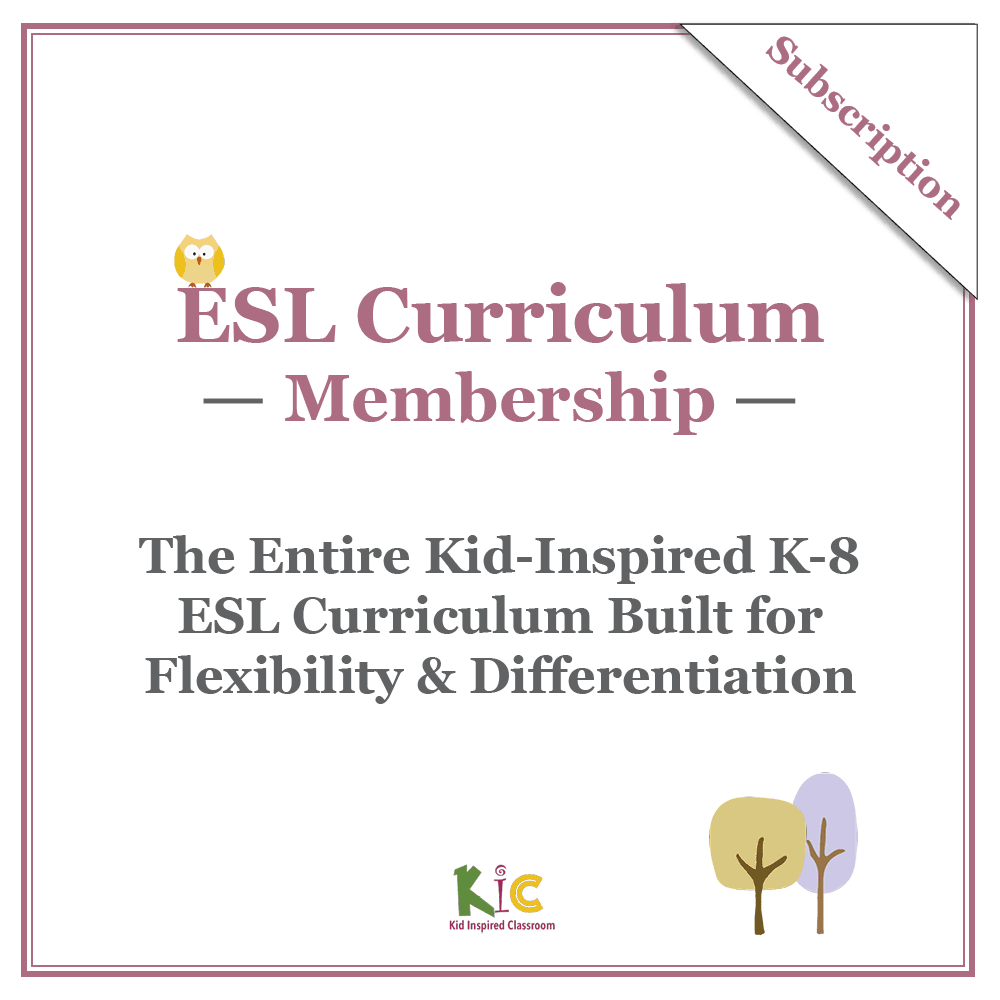 Kid-Inspired ESL Curriculum Membership Cover