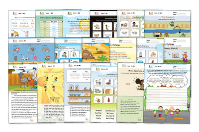 Example pages from the online ESL curriculum ESL Paths to Fluency