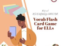 Fun and Effective Vocab Flash Card Game for ELLs