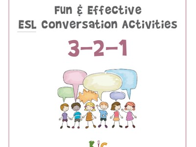 Fun and Effective ESL Conversation Activity 3-2-1 Activity (600x600)