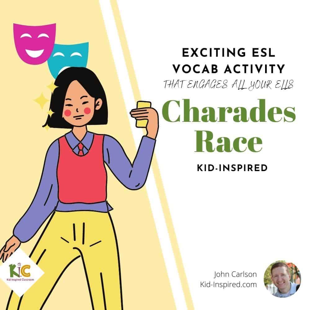 Charades Race ESL Vocabulary Activity
