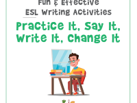 Fun and Effective ESL Writing Activity Practice Say Write Change (600x600)