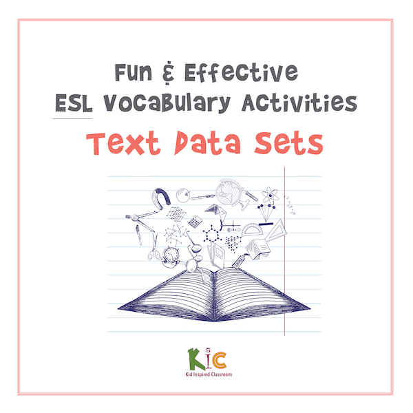 Fun and Effective ESL Vocabulary Activity Text Data Sets