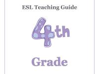 ESL Teaching Curriculum Guide - 4th Grade