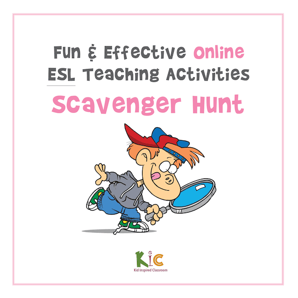 Fun and Effective Online ESL Teaching Activity Scavenger Hunt (600x600)