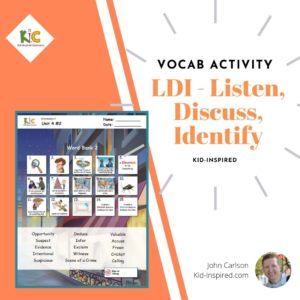 LDI – Listen Discuss Identify – ESL Vocabulary Activity