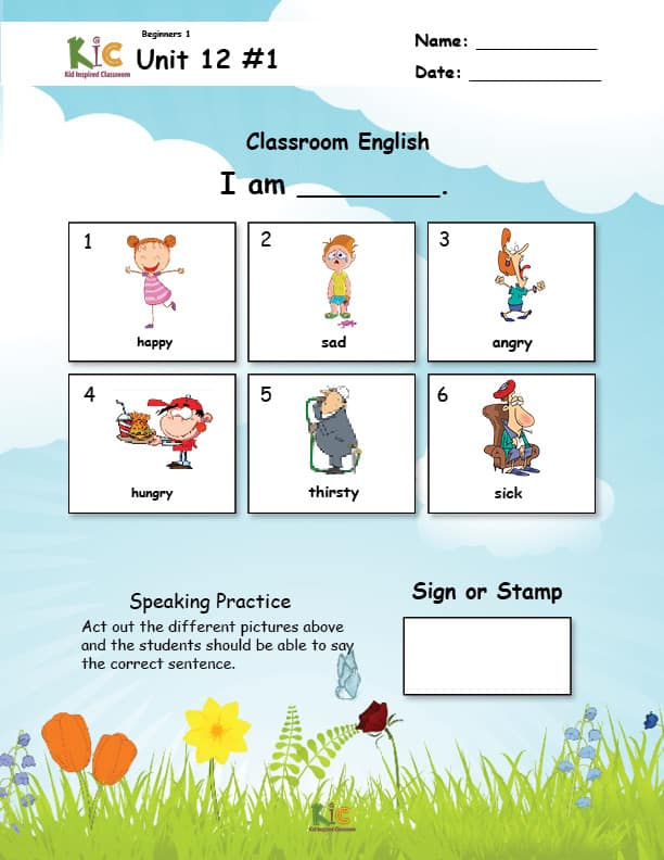 Survival English Lesson Speaking and Listening Practice from the ESL Curriculum Membership