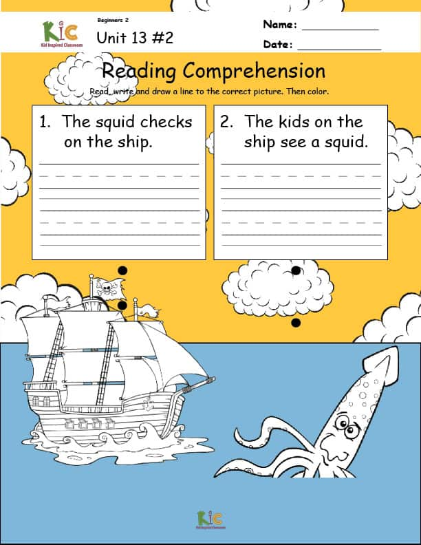 Survival English Lesson Independent Reading Comprehension Practice from the ESL Curriculum Membership