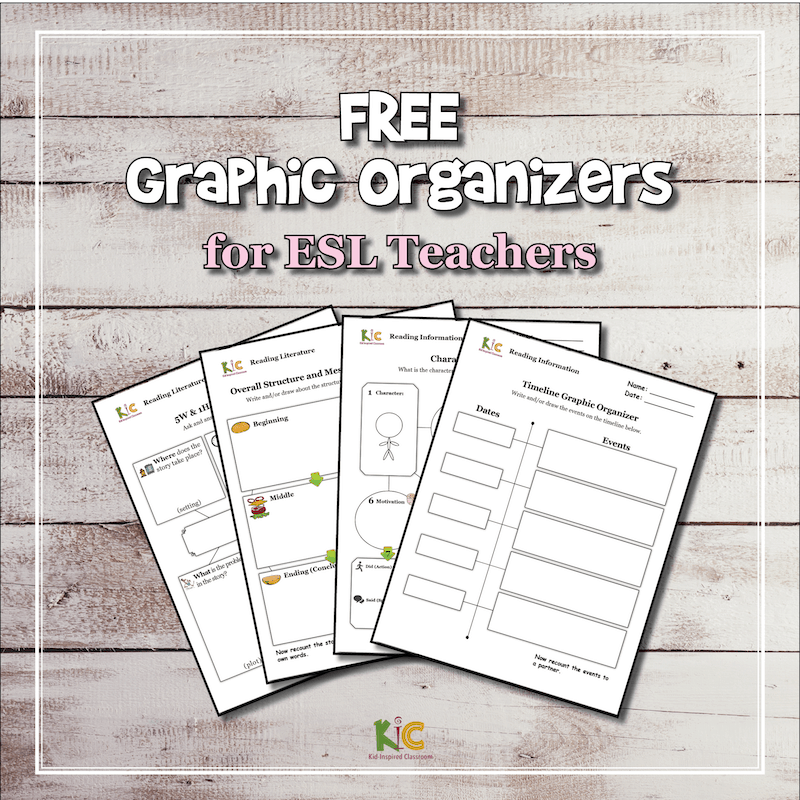 Graphic Organizers Pack For Teaching English Learners
