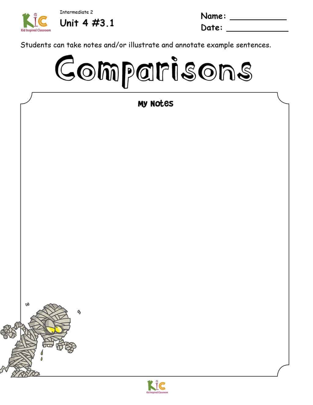 Comparisons and superlatives Grammar Notes from the ESL Curriculum Membership