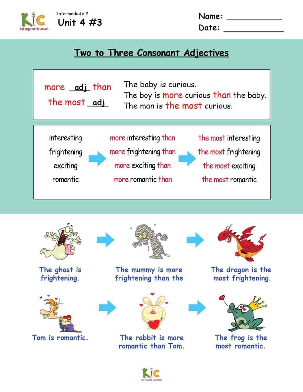 Comparisons and superlatives Grammar Lesson from the ESL Curriculum Membership