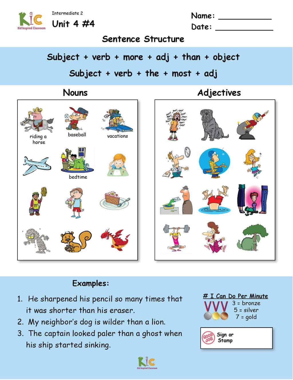 Comparisons and superlatives Grammar Speaking from the ESL Curriculum Membership