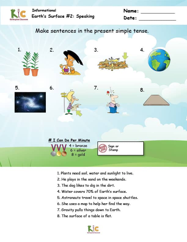 ESL Grammar Speaking Page from the ESL Curriculum Membership