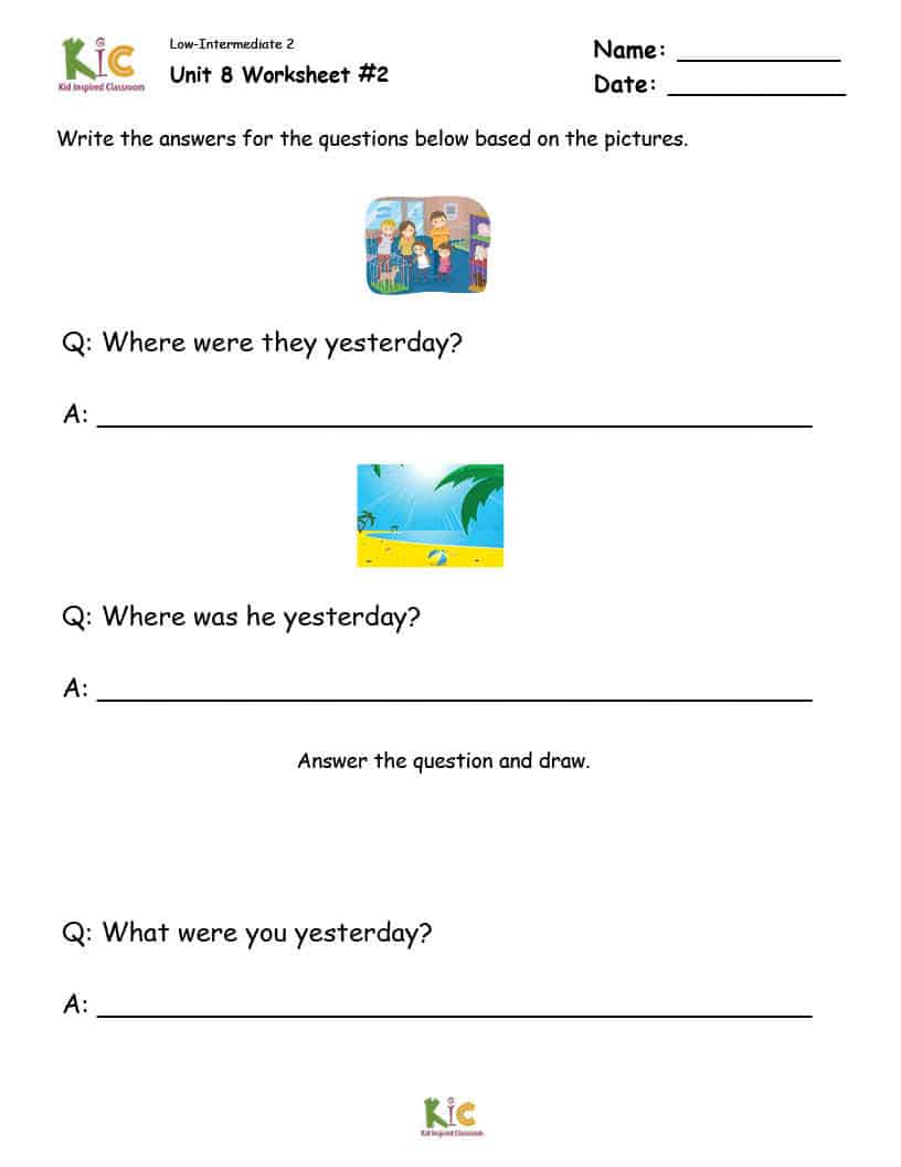 Grammar Lesson Worksheet from the ESL Curriculum Membership