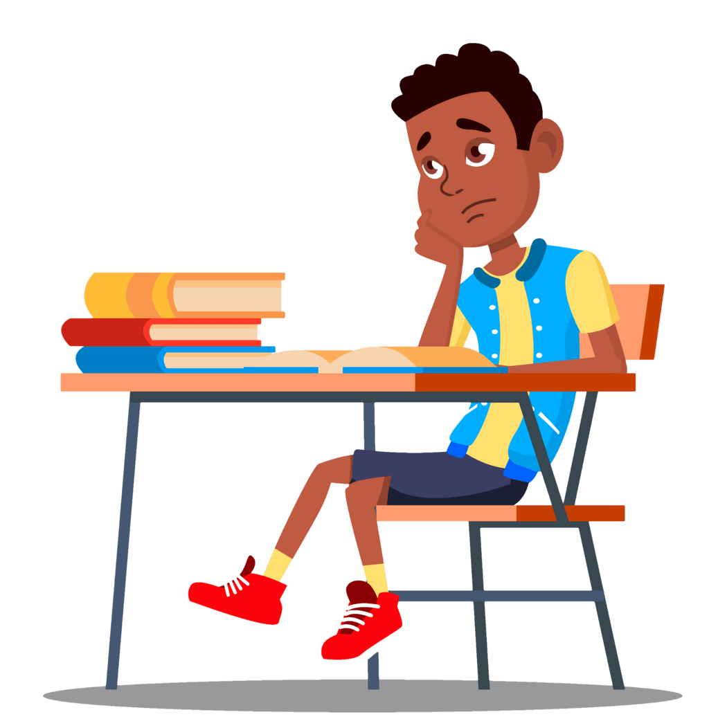 English Learner in Classroom Frustrated Because He Can't Understand